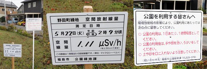 2012年11月 福島市内の公園にて